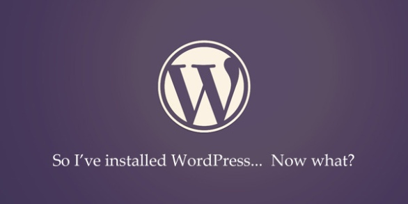 I've installed WordPress